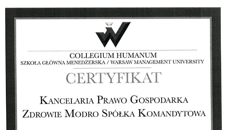 Nasza współpraca z Collegium Humanum.