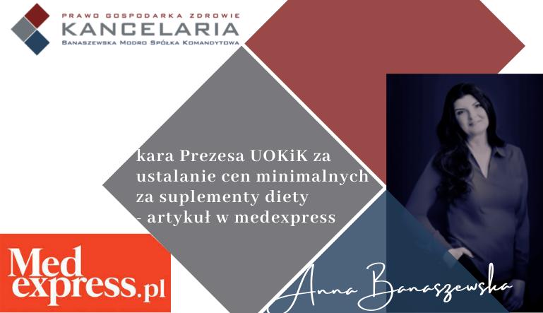 Kara Prezesa UOKiK za ustalanie cen minimalnych za suplementy diety