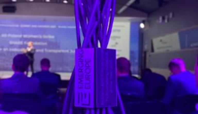 """Kodeks Branżowy RODO w ochronie zdrowia otrzymał pierwszą nagrodę w międzynarodowym konkursie Emerging Europe Awards w kategorii """"Modern and Future-proof Policymaking""""."""
